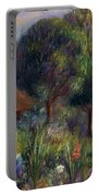 Lenna By A Summer House Portable Battery Charger by William James Glackens