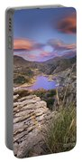 Lenticular Clouds At Canales Lake Portable Battery Charger