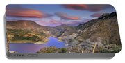 Lenticular Clouds At The Red Sunset Portable Battery Charger