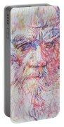 Leo Tolstoy/ Colored Pens Portrait Portable Battery Charger