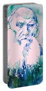 Leo Tolstoy Watercolor Portrait.2 Portable Battery Charger