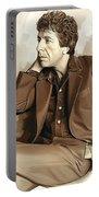 Leonard Cohen Artwork 2 Portable Battery Charger