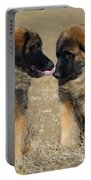 Leonberger Puppies Portable Battery Charger