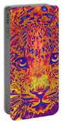Leopard Eyes Orange Portable Battery Charger