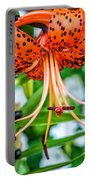 Leopard Lily Portable Battery Charger