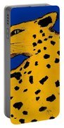 Leopard On Blue Portable Battery Charger
