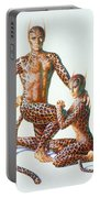 Leopard People Portable Battery Charger by Andrew Farley