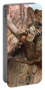 Leopard Up A Tree Portable Battery Charger