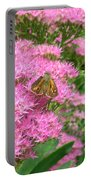 Lepidopterian Feeding On Milkweed Portable Battery Charger