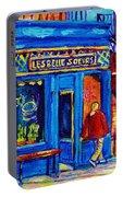 Les Belles Soeurs  Montreal Restaurant Plateau Mont Royal Painting By Carole Spandau Portable Battery Charger