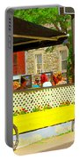 Les Folies De Montreal Cafe Resto Lounge Paris Style Bistro City Scene Carole Spandau Portable Battery Charger