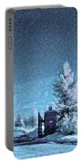 Let It Snow Blue Version Portable Battery Charger