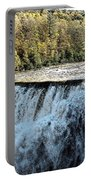 Letchworth State Park Middle Falls In Autumn Portable Battery Charger