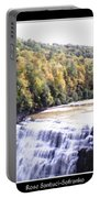 Letchworth State Park Middle Falls Panorama Portable Battery Charger