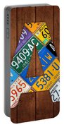Letter A Alphabet Vintage License Plate Art Portable Battery Charger by Design Turnpike