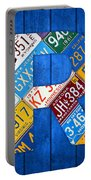 Letter R Alphabet Vintage License Plate Art Portable Battery Charger by Design Turnpike
