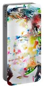 Lewis Carroll - Watercolor Portrait Portable Battery Charger