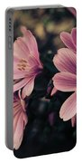 Lewisia Flowers - 7 Portable Battery Charger