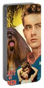 Lhasa Apso Art - East Of Eden Movie Poster Portable Battery Charger