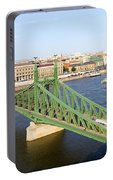 Liberty Bridge And Budapest Skyline Portable Battery Charger