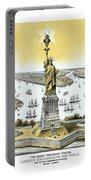 Liberty Enlightening The World  Portable Battery Charger by War Is Hell Store