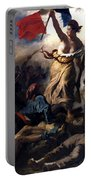 Liberty Leading The People During The French Revolution Portable Battery Charger