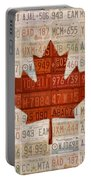 License Plate Art Flag Of Canada Portable Battery Charger