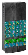 License Plate Art Recycled Periodic Table Of The Elements By Design Turnpike Portable Battery Charger