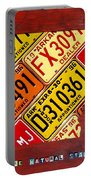 License Plate Map Of Arkansas By Design Turnpike Portable Battery Charger by Design Turnpike