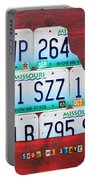 License Plate Map Of Missouri - Show Me State - By Design Turnpike Portable Battery Charger by Design Turnpike