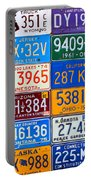 License Plates Of The Usa - Our Colorful American History Portable Battery Charger
