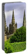 Lichfield Cathedral From The Garden Portable Battery Charger