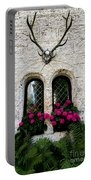 Lichtenstein Castle Windows Wall And Antlers - Germany Portable Battery Charger