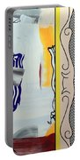 Lichtenstein's Painting With Statue Of Liberty Portable Battery Charger