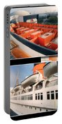 Life Boats Collage Queen Mary Ocean Liner Long Beach Ca Portable Battery Charger