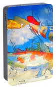 Life Is But A Dream - Koi Fish Art Portable Battery Charger