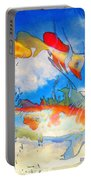 Life Is But A Dream - Koi Fish Art Portable Battery Charger by Sharon Cummings