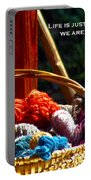 Life Is Just A Basket Of Yarn Portable Battery Charger