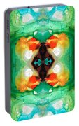 Life Patterns 1 - Abstract Art By Sharon Cummings Portable Battery Charger