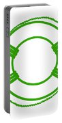 Life Preserver In Green And White Portable Battery Charger