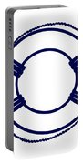 Life Preserver In Navy Blue And White Portable Battery Charger