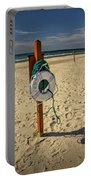 Life Preserver On The Beach In Pentwater Michigan Portable Battery Charger