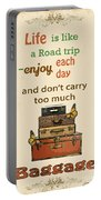 Life Typography-baggage Portable Battery Charger
