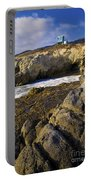 Lifeguard Tower On The Edge Of A Cliff Portable Battery Charger