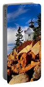 Light At Bass Harbor Portable Battery Charger