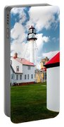 Light At Whitefish Point Portable Battery Charger