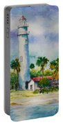Light House At The Beach Portable Battery Charger