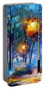 Light Of Luck - Palette Knife Oil Painting On Canvas By Leonid Afremov Portable Battery Charger