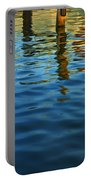 Light Reflections On The Water By A Dock At Aransas Pass Portable Battery Charger