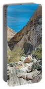 Light Side And Dark Side In Big Painted Canyon In Mecca Hills-ca Portable Battery Charger